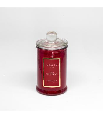 Grace Home Deep Pomegranate Scented Candle Mini