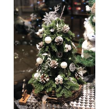 Grace New year Table Tree (white)